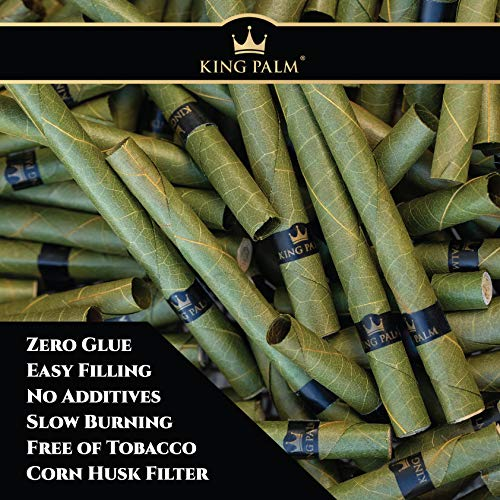 Organic Pre Rolls, Tobacco & Chemical Free, Super Slow Burning, 100% Real Palm Leaf, Just Fill It (180 Slim Rolls) by King Palm (Image #3)