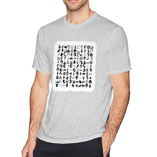 Gray We Didn't Start The Fire Casual Cotton Tshirt for Men L