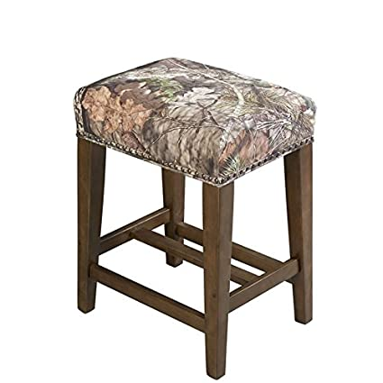 Amazoncom Riverbay Furniture 25 Backless Counter Stool In Brown