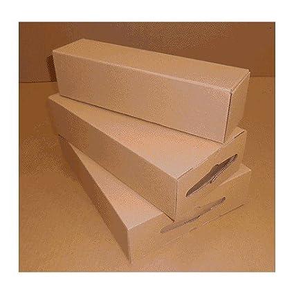 Unipapel 231642 - Pack de 5 cajas de embalar para 2 botellas ...