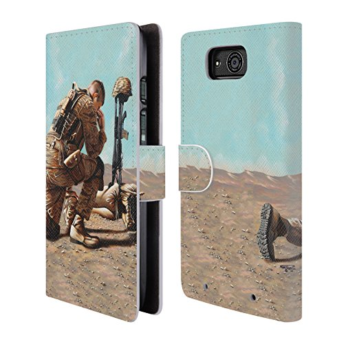 Official Geno Peoples Art Soldier's Cross Life Leather Book Wallet Case Cover For Motorola DROID