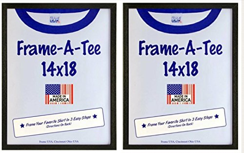 T-Shirt Frame with Standard Plexi Glass for Max Protection - Best Gift Idea (14x18, Black) (2, - Frames Best Mens