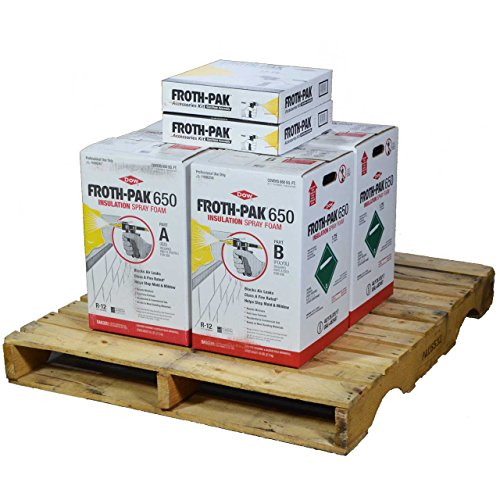 Froth Pak Dow 650, 2 Spray Foam Insulation Kits, Class A Fire Rated, Closed Cell Foam, Covers 1300 sq ft ()