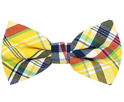 OCIA Mens Cotton Plaid Handmade Bow Tie -