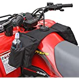 COCO Durable Universal Motorcycles Snowmobiles ATV Tank Top Saddle Bag Waterproof Rack Bage Surrounded by Three Large Zippered Compartments (Black)