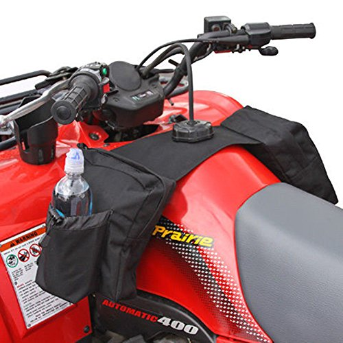 COCO Durable Universal Motorcycles Snowmobiles ATV Tank Top Saddle Bag Waterproof Rack Bage Surrounded by Three Large Zippered Compartments (Black) by COCO
