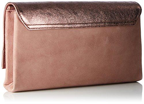 L.K. Bennett Madeline, Clutch Femme, Rose (Metallic Pink), 4.50 EU