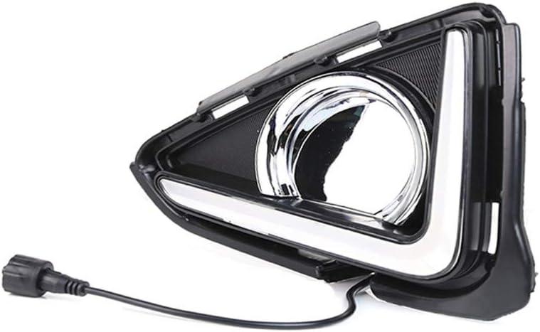 Car LED DRL Daytime Running Lights 12V DRL Lamp For Toyota RAV4 RAV 4 2016 2017 2018 Turning Signal Fog Lamp Auto Lights Lamp Accessories Waterproof