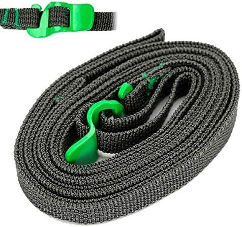 WarmHome Conveniente El Atar rápido al Aire Libre Atar con Correa refuerza la Cuerda de la restricción/la Cinta del Embalaje de la Mochila (Color : Verde)
