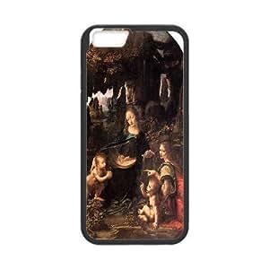 IPhone 6 Cases Madonna of the Rocks by Leonardo Da Vinci, Zachcolo, {Black}