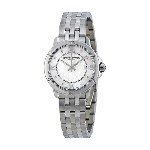 Raymond Weil Tango Plata Dial Acero Inoxidable Acero Damas Reloj 5391-ST-00995: Amazon.es: Relojes