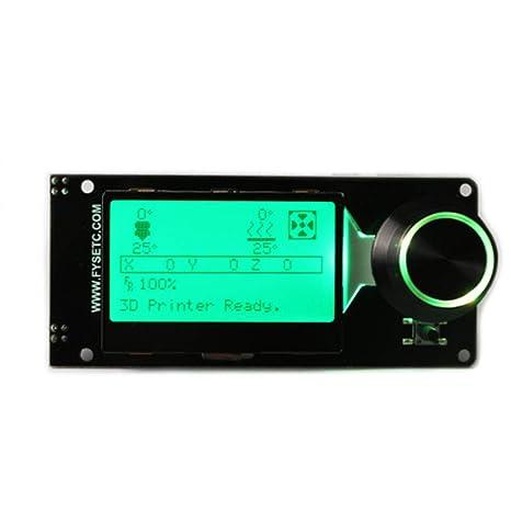Controlador LCD 12864 Retroiluminación LED Accesorios impresora 3D ...