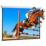 Portable 84 inch Projection Screen 1:1 HD 4K Anti-Crease Portable Projector Movies Pull Down Screen for Home Cinema Theater Education Outdoor Indoor