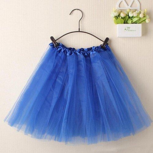 KEERADS Damen Tutu Rock Tüllrock Kurz Rockabilly Kleid Petticoat Kleider Fasching Elegant Blau 8HupSstNZ