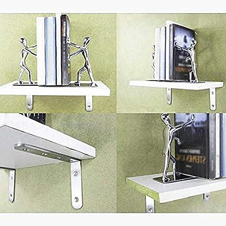 Magiin 4Pcs Soporte de Acero Inoxidable en Forma de L de /Ángulo Recto de 90 Grados con Tornillos Soportes de Esquina Decorativos para Estanteria Mesa Sillas Estante de Carga 125x125x20 MM