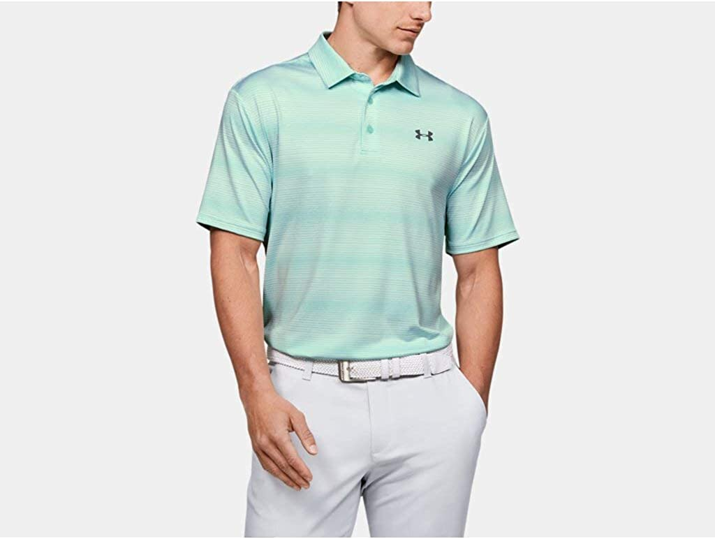 Under Armour Men's Playoff 2.0 Golf Polo , Aqua Float (792)/Pitch Gray , X-Large