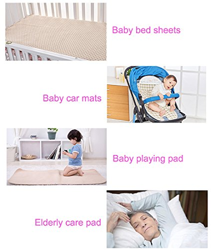 Baby Waterproof Bed Pad Organic Cotton Mattress Protector Reusable  Incontinence 4 Protective Layers Ultra Absorb Sheets ...