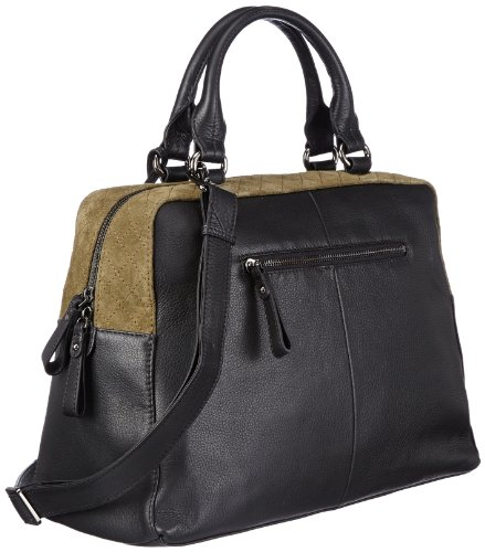 Khaki à Noir Schwarz Businesstasche O'Polo Accessories Olivia Marc sacs main Pazgaw