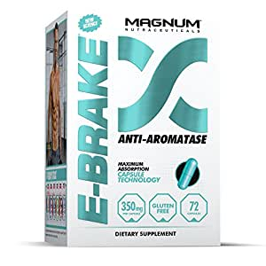 Magnum Nutraceuticals E-Brake Anti-Aromatase - 72 Capsules - Estrogen Blocker - DHT Reducer - Leaner Muscle Builder- Post Cycle Therapy