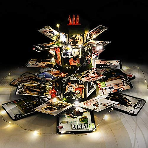 SWTHXY Explosion Box, Creativo DIY Hecho a Mano Sorpresa Explosión Caja de Regalo Amor Memoria, Álbum de Fotos de Scrapbooking Caja de Regalo para Cumpleaños Navidad: Amazon.es: Hogar