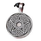 Pewter pentagram pentacle Pendant Necklace A25