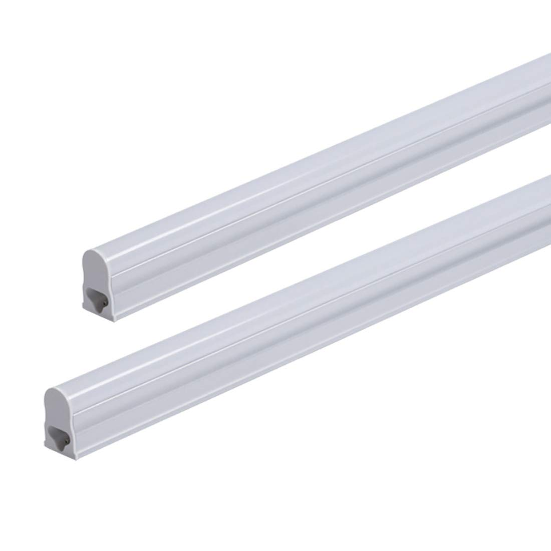Led me t5 led integrated tube ultra slim high output light fitting kitchen under cabinet 5w 3200k warm white 30cm 300mm 1 energy saving replacement