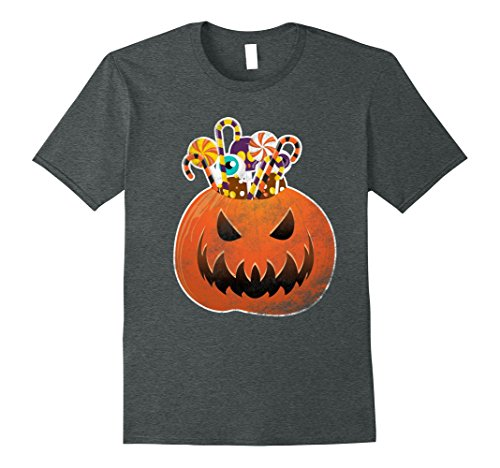 Homemade Scary Halloween Costumes (Mens Scary Halloween Costumes Shirt Funny Cute Pumpkin & Candies 3XL Dark)