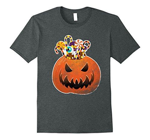 Costumes Halloween Scary Homemade (Mens Scary Halloween Costumes Shirt Funny Cute Pumpkin & Candies 3XL Dark)
