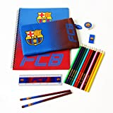 Barcelona Ultimate Stationary Set 19 piece set containing 12 colouring pencils, 2 pencils, A4 notepad, eraser, pencil case, ruler and a pencil sharpener. Officially Licensed & Ships from USA!
