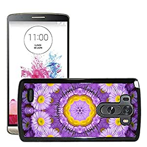 Hot Style Cell Phone PC Hard Case Cover // M00152523 Background Floral Flower Purple // LG G3 VS985