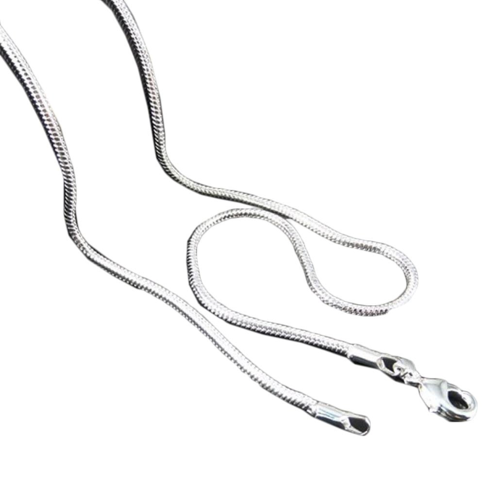 START 16inch Sell Silver Jewelry Snake Chain Necklace (18)