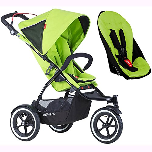Phil & Teds Sport V5_22 Baby Infant Stroller with Doubles Seat Kit - Apple