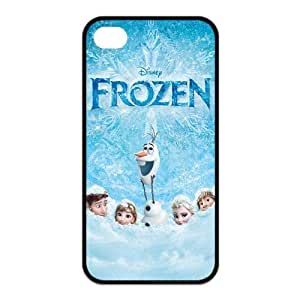 4s Case, iPhone 4 4s Case - Fashion Style New Frozen Snowman Olaf Painted Pattern TPU Soft Cover Case for iPhone 4/4s(Black/white)