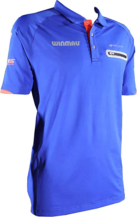 Winmau Pro-Line Dart - Camiseta de Manga Corta, Color Azul o Negro ...