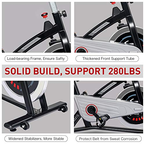 JOROTO Magnetic Resistance Exercise Bike Stationary Belt Drive Indoor Cycling Bikes Trainer Workout Cycle for Home 2