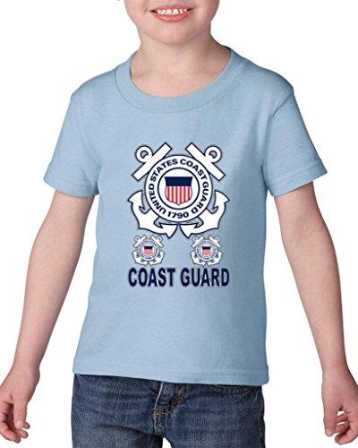Xekia United States Coast Guard US Coast Guard Toddler Kids T-Shirt Tee 5T Light Blue -