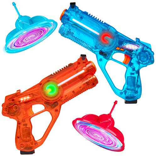 Power Your Fun Laser Launchers Laser Tag for Kids - 2 Player Lazer Tag Shooting Games with 2 Toy Guns and 2 Flying Toy Targets