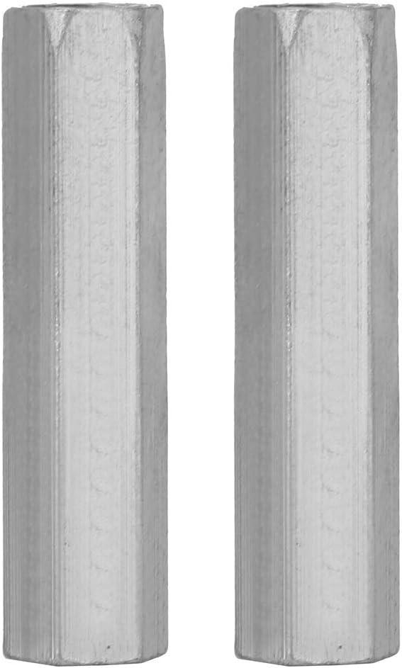 Tarente 2pcs Zinc Plated Steel M1060 Long Hex Nut Hexagonal Thread Nut Threaded Fasteners