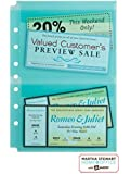 "Martha Stewart Home Office with Avery Secure-Top Sheet Protectors, 2 Pockets, Teal, 5-1/2"" x 8-1/2"", Pack of 5 (14533)"