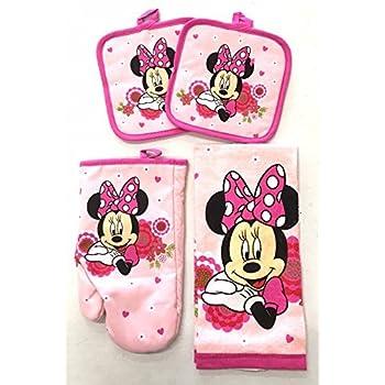 Amazon.com: Disney Junior Minnie 4 pc Kitchen Set - Kitchen Towel ...