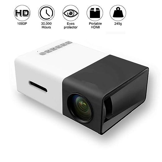 WIVION Proyector Mini, proyector LED portátil Pocket Pico ...