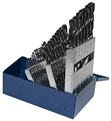 Century Drill & Tool 24029 Pro Grade Black Oxide Industrial Drill Bit Set, 29Piece