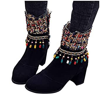 Amazon.com: Corriee - Botines de tacón alto para mujer: Clothing