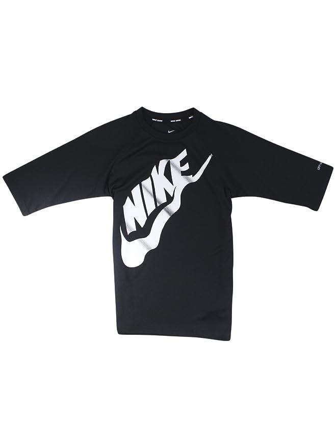 e5564792 Amazon.com: Nike Kids Boy's Solid Half Sleeve Hydroguard (Big Kids) Black  X-Large: Clothing
