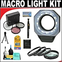 Digital Ring Light For Macro Photography + +1 +2 +4 +10 Close-Up Macro Filter Set with Pouch + High Resolution 3-piece Filter Set (UV, Fluorescent, Polarizer) + 6-Piece Deluxe Cleaning Kit + Lenspen Cleaning Tool + Deluxe DB ROTH Accessory Kit For The Sony NEX-VG10 Camcroder Which Have Any Of These A Series (20mm, 24mm f/2, 85mm) Sony Lenses