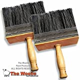 6 Inch SUPER Sized Multi-Purpose Painting and Faux Finish Painting Brush VALUE 2-PACK BLK by The Woolie