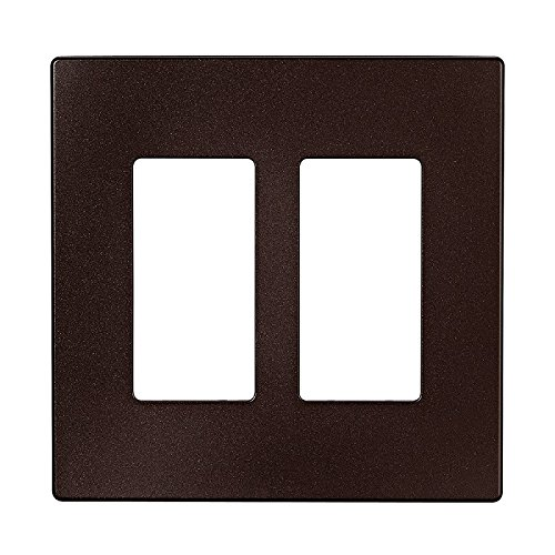 (EATON PJS262RB-SP-L Designer 2-Gang Screwless Wallplate, Oil Rubbed Bronze)