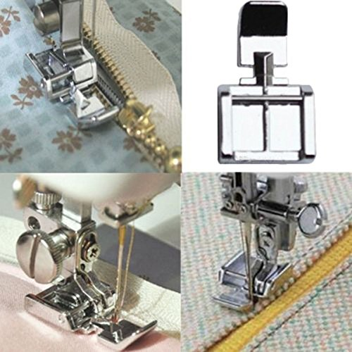 Lucrative shop Hot Zipper Foot 2 Sides For Sewing Machine Brother Janome Singer Snap-on Models
