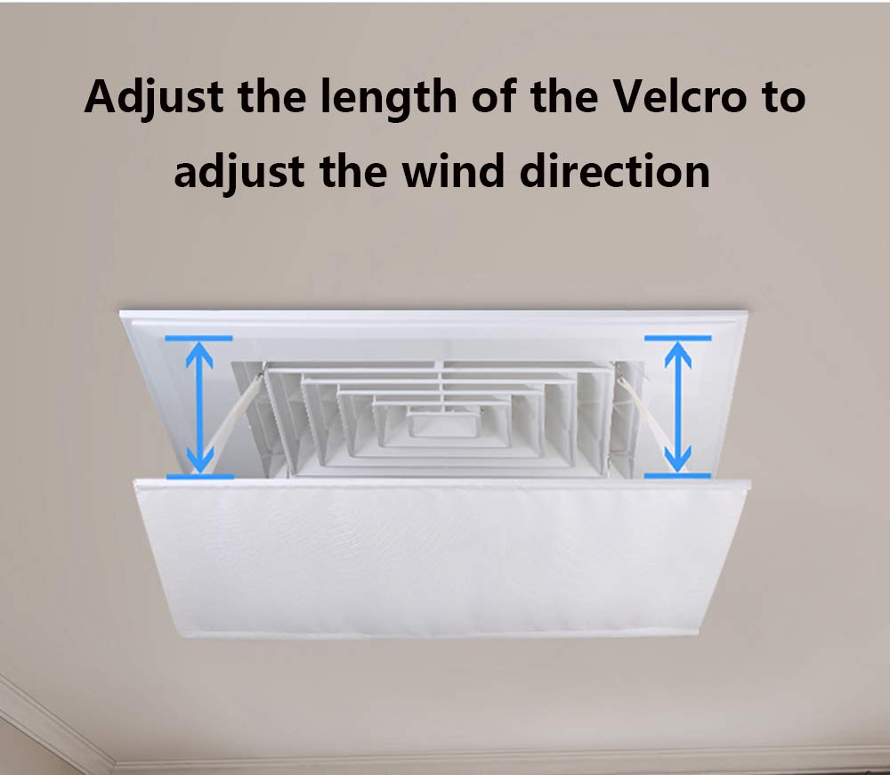 panno di Oxford Deflettore del condizionatore per il condizionamento daria centrale del soffitto linstallazione facile impedisce laria fredda dal soffiare diritto langolo regolabile