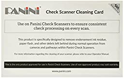 Panini 6KWPNI-CS2B15W5 Check Scanner Cleaning Card Featuring Waffletechnology (90 Cards)